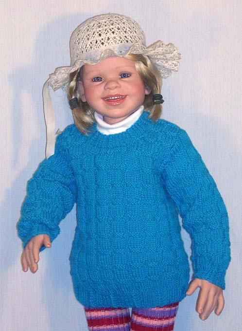 Вязание для детей, свитер.