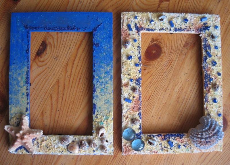 Рамка для фотографий из ракушек своими руками