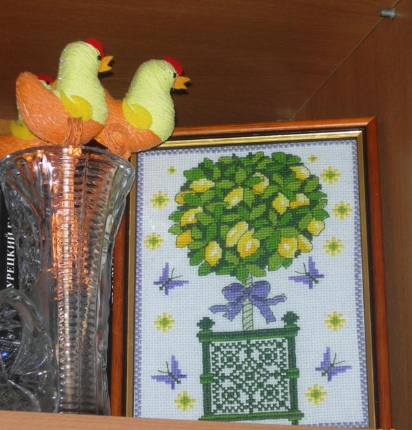 фото.  Клуб на Клео. лимонное дерево (схема из ВК).  Обсуждение. вышивка.