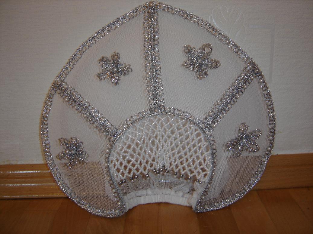 Сделать корону для снегурочки своими руками фото