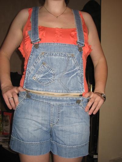 Комбинезон шорты из старых джинсов