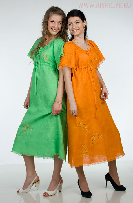 Платье из льна своими руками
