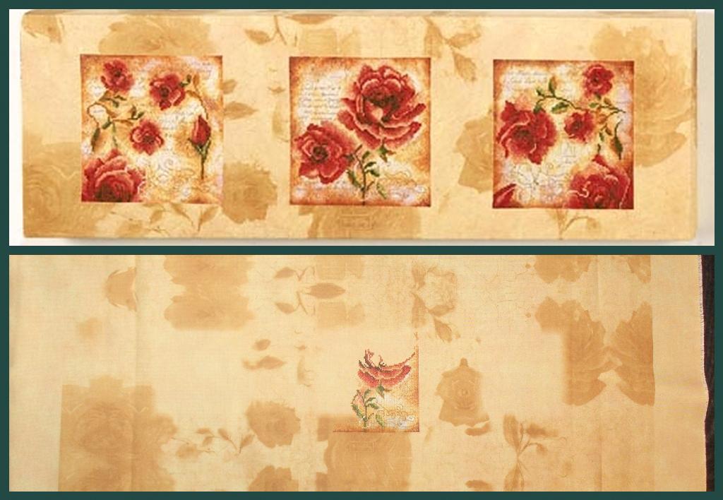 Вышивка крестом цветы триптих - Всё про вязание здесь.