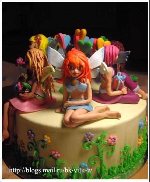 Торт винкс для дочки маруськи