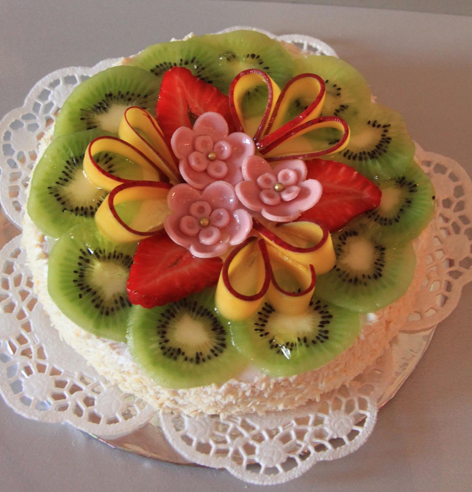 Украшения для торта из фруктов своими руками фото