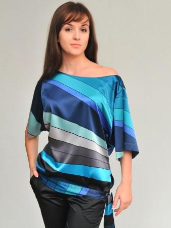 Блузка-Рубашка Цветастая Больших Размеров