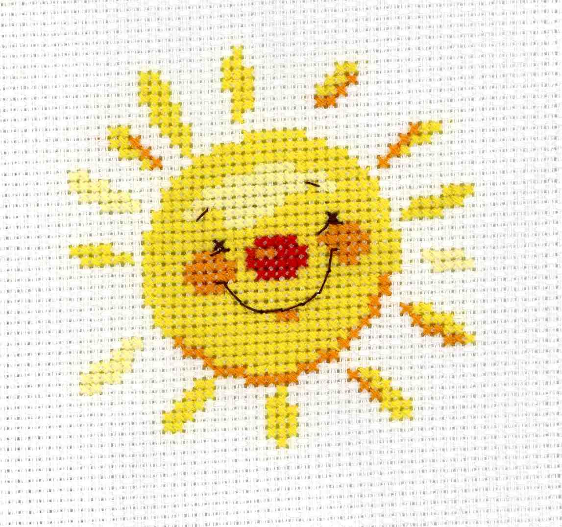 Схемы вышивки солнца с улыбкой