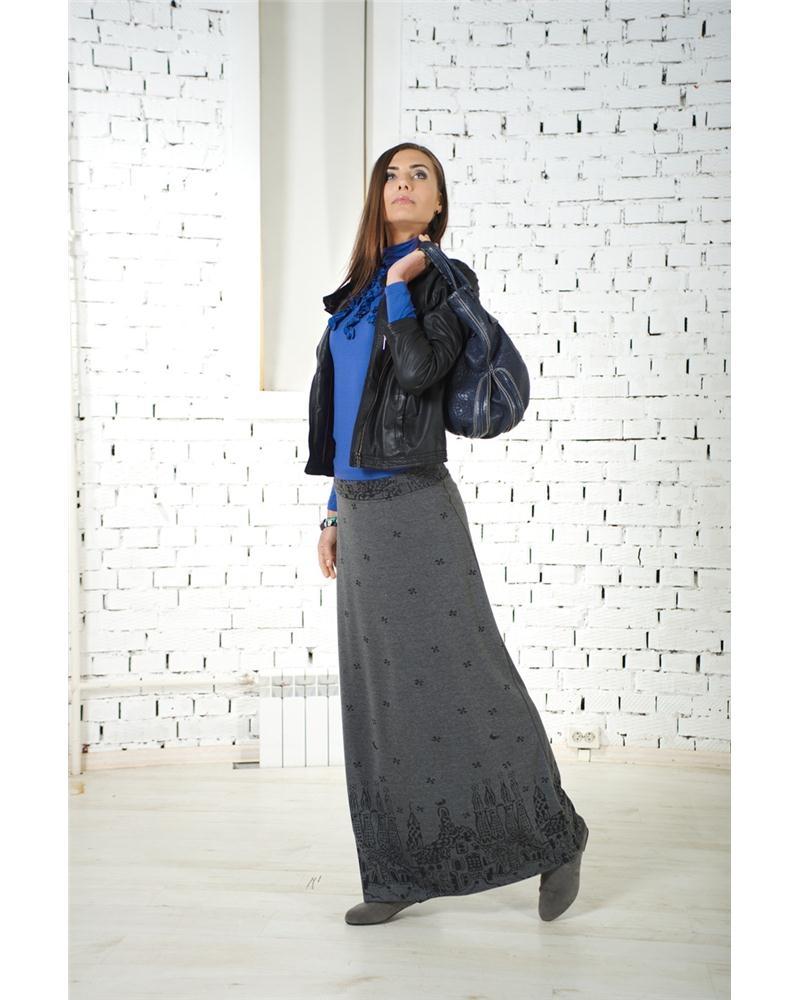 Трикотажные юбки и платья купить в
