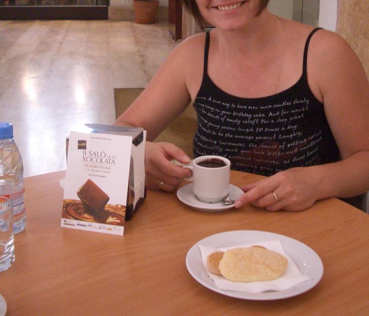 Горячий шоколад в Музее шоколада в Барселоне