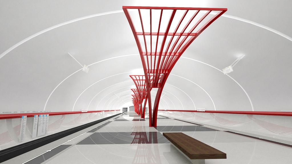 Проект станции метро Братеево