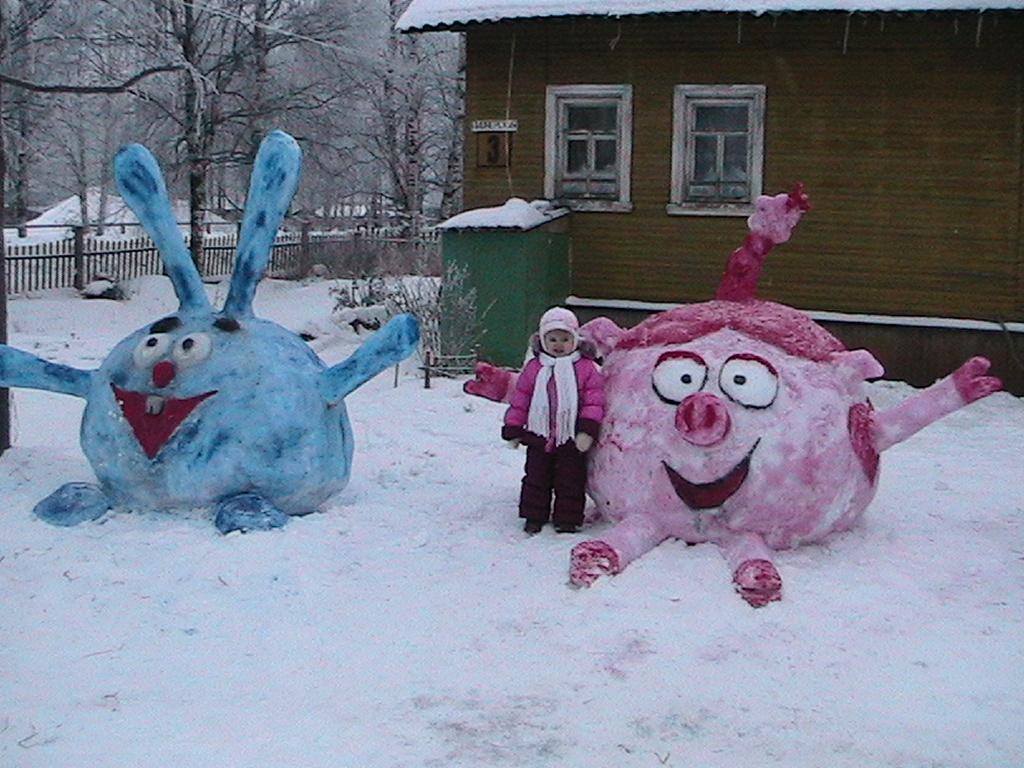 Новогодние поделки из снега своими руками
