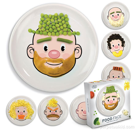 Food face dinner plate www perpetualkid com