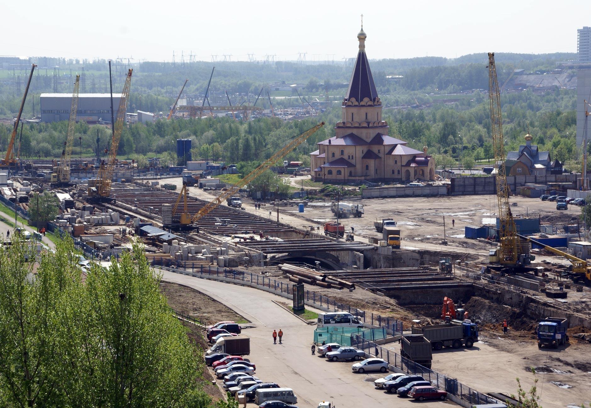 Строительство метро «Алма-Атинская»