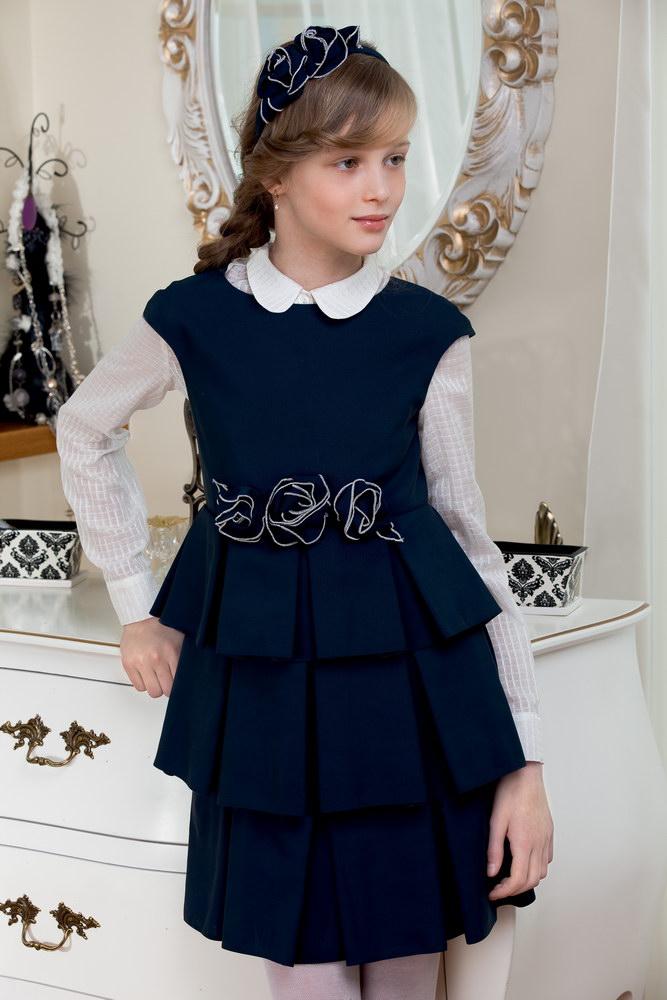 Фасоны школьных платьев для девочек 10 12 лет