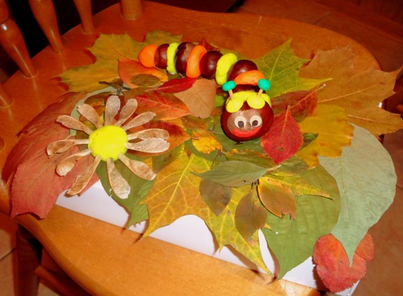 Поделки осень из каштанов