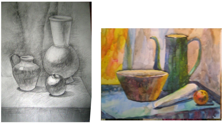 Экзамен в художественной школе при поступлении рисунок