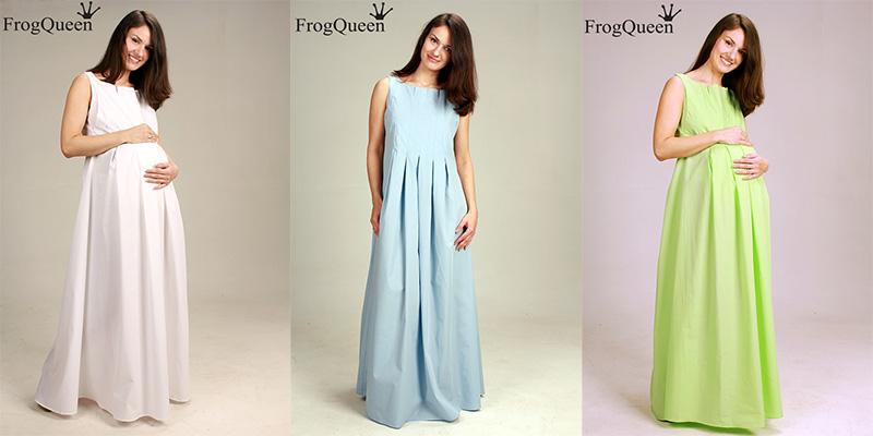 Как сшить летнее платье для беременной 12