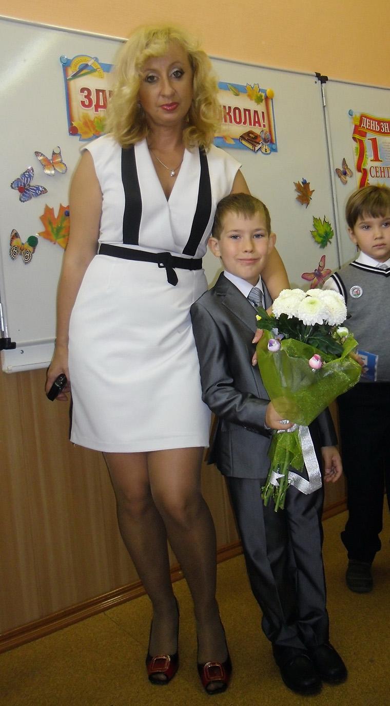 Учительница В Юбке