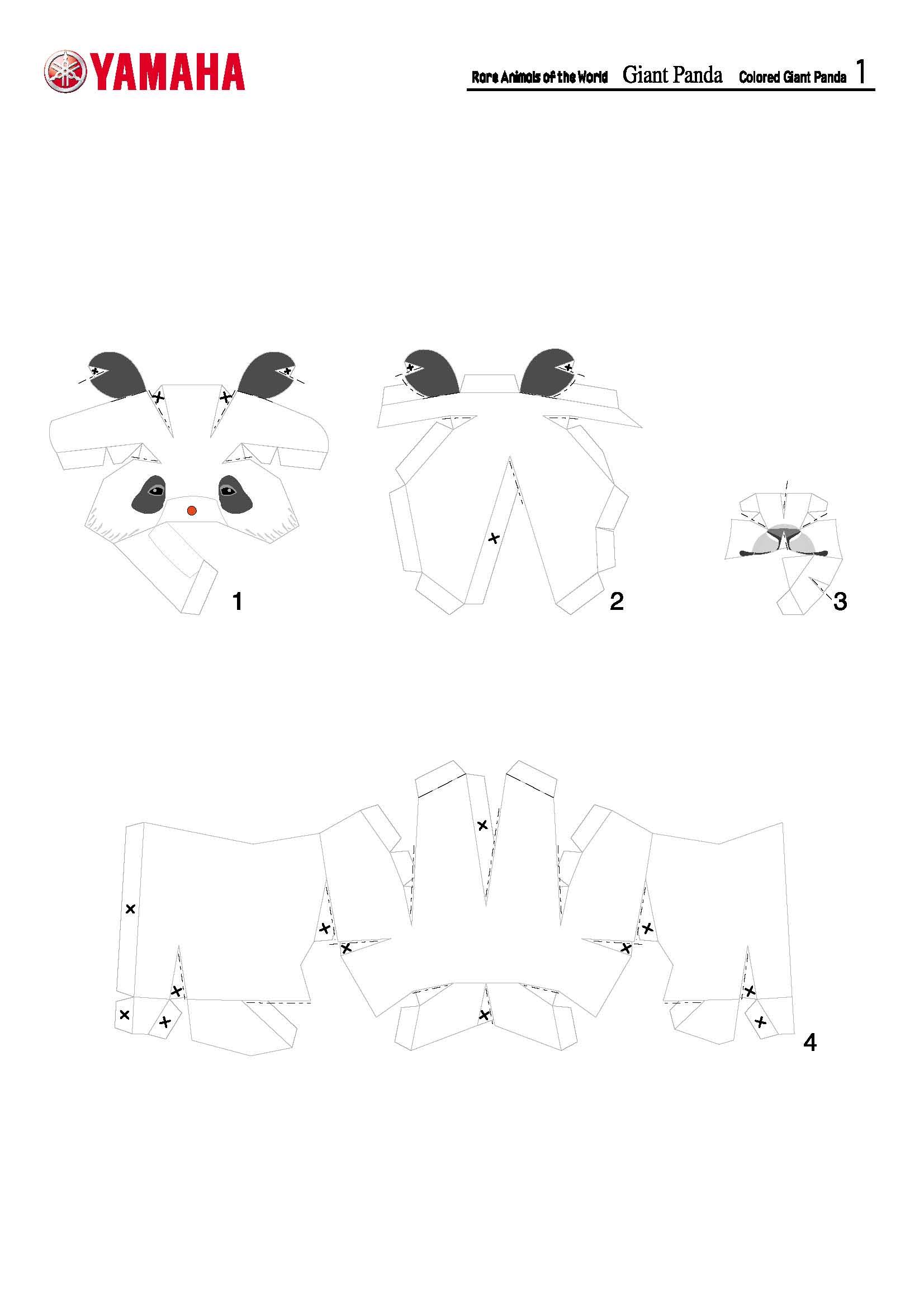 Схема 3д оленя распечатать