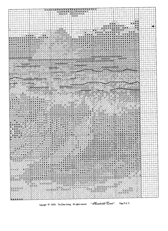 Залив гумбольдт вышивка схема 10