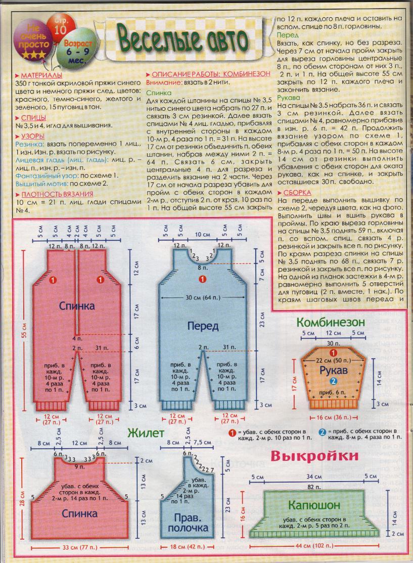 Схема вязания комбинезон для новорожденного крючком