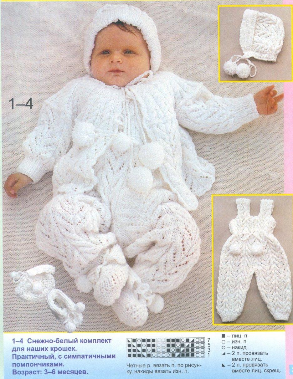 Вязание на спицах от 0 до 6 месяцев