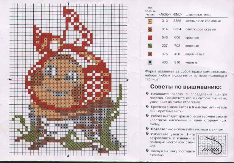 схемы вышивки крестом описание