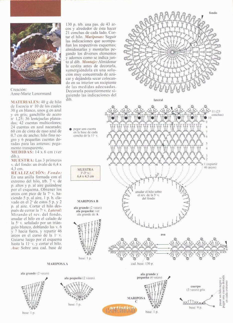 Вязание крючком корзиночек и вазочек