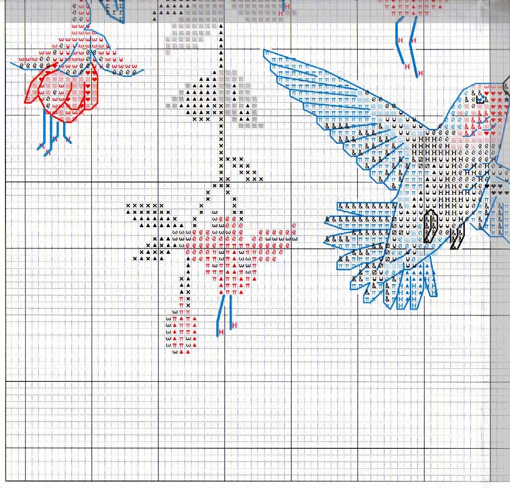 Колибри крестиком вышивка