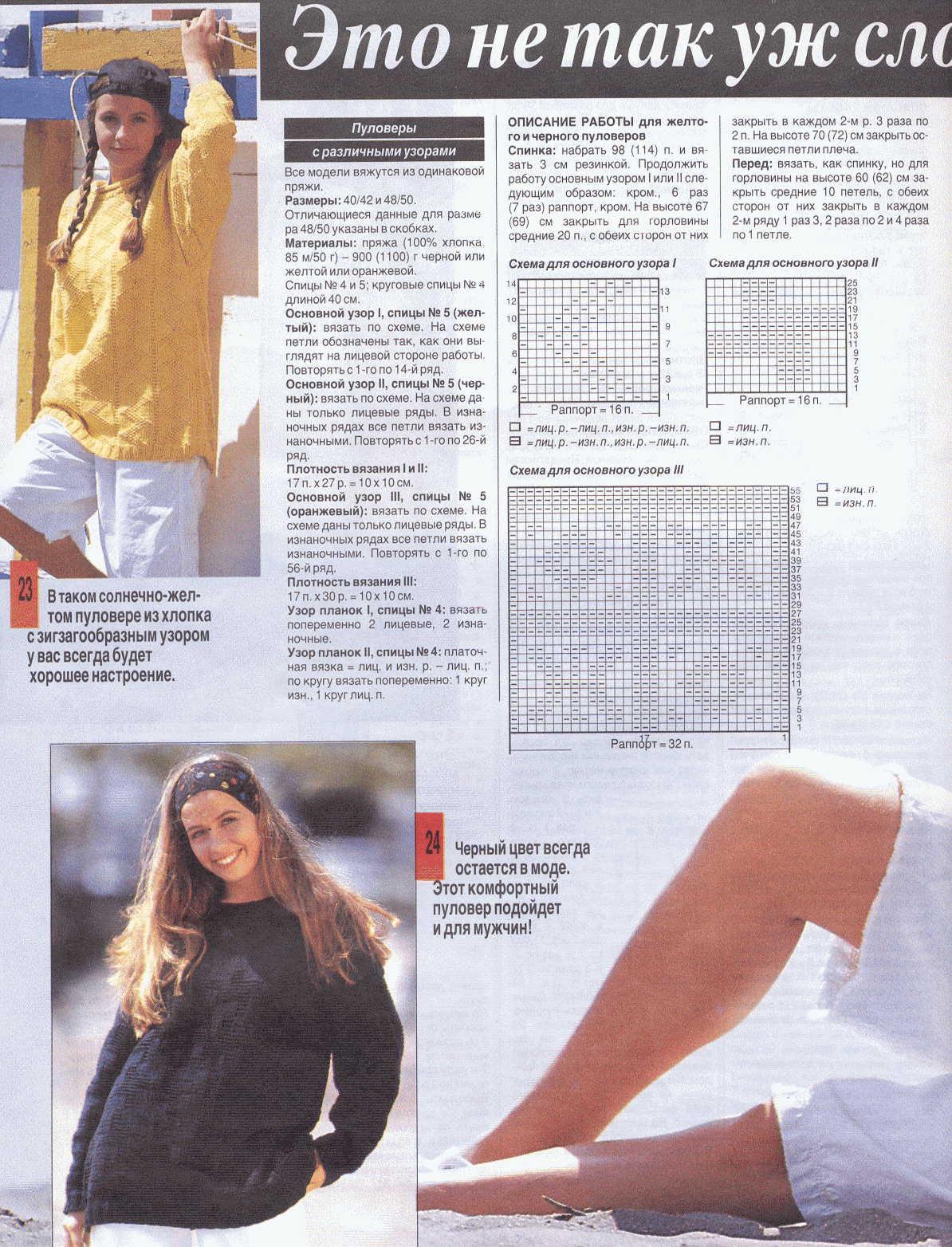 Схемы вязания кардиганов из журнала сандра