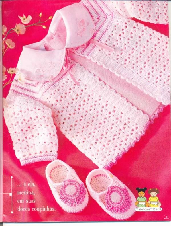Вязание крючком кофточка малышам 61