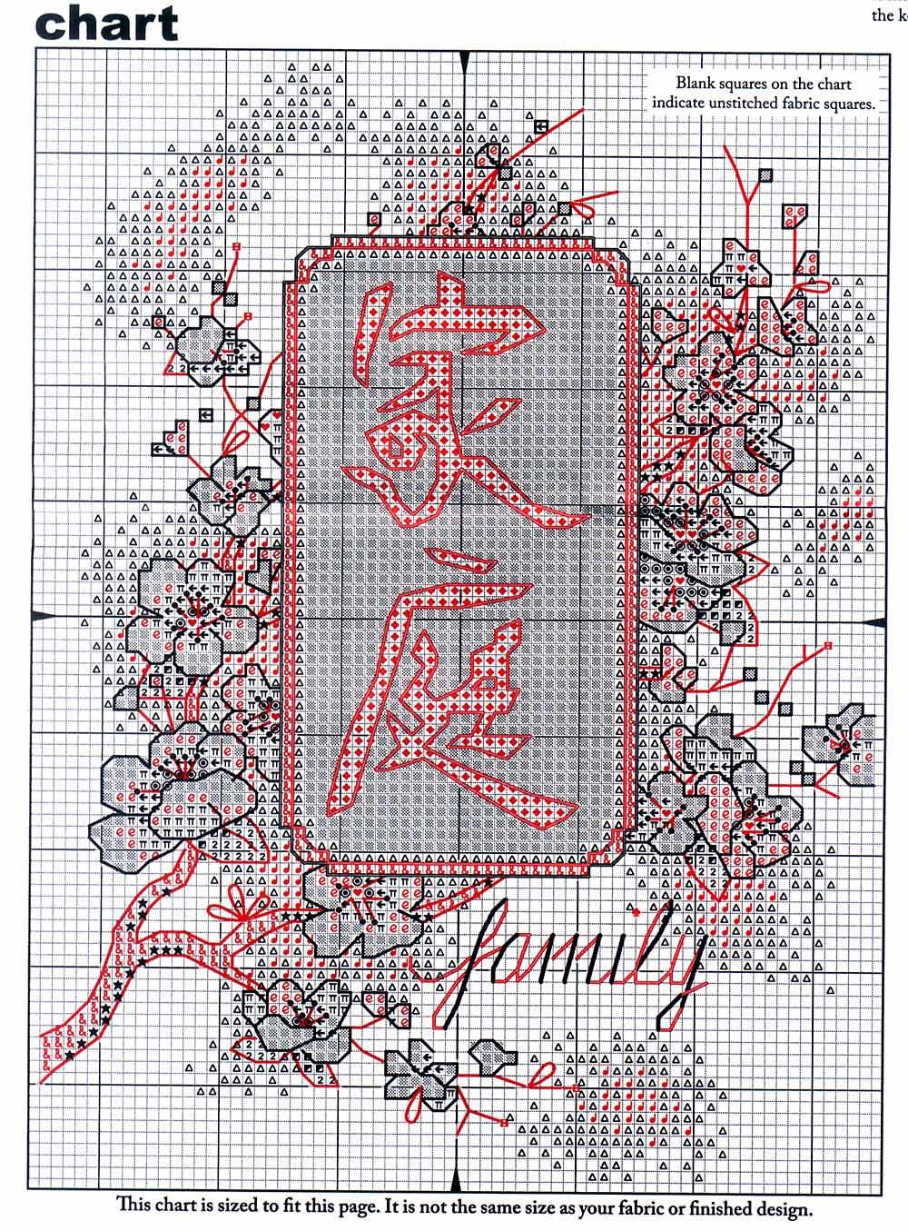 Иероглиф японский вышивка крестом схемы