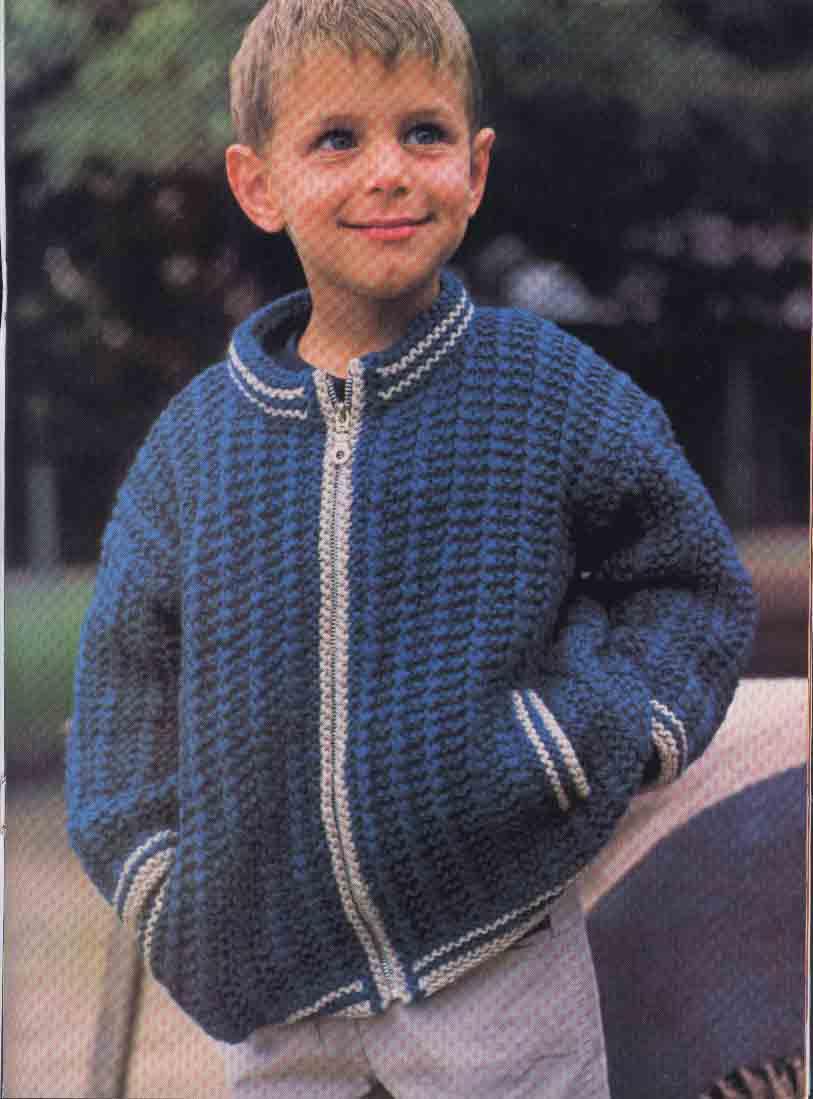 Вязание жакет для мальчика 5 лет 499