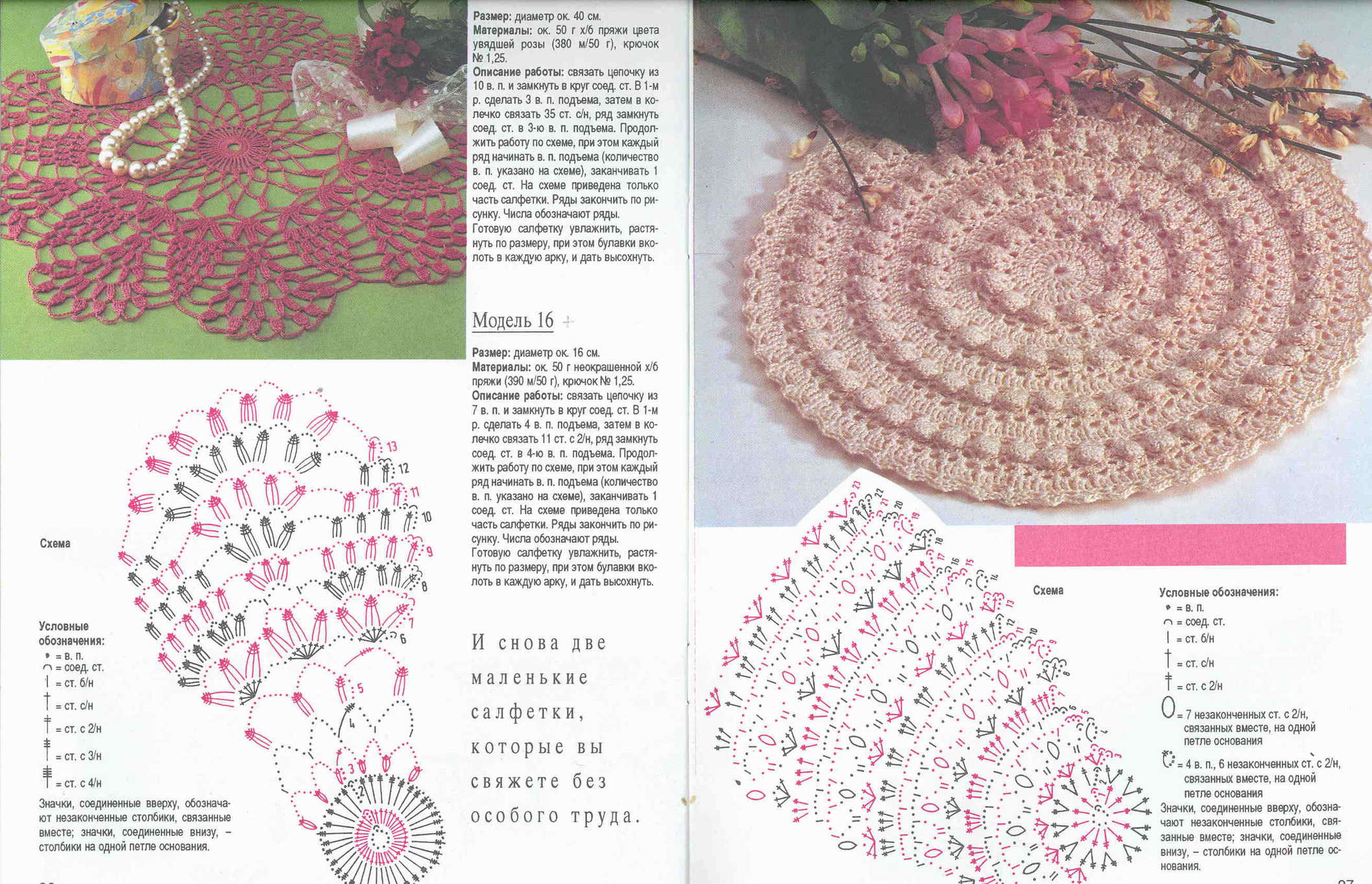Журнал валя валентина вязание салфеток 170