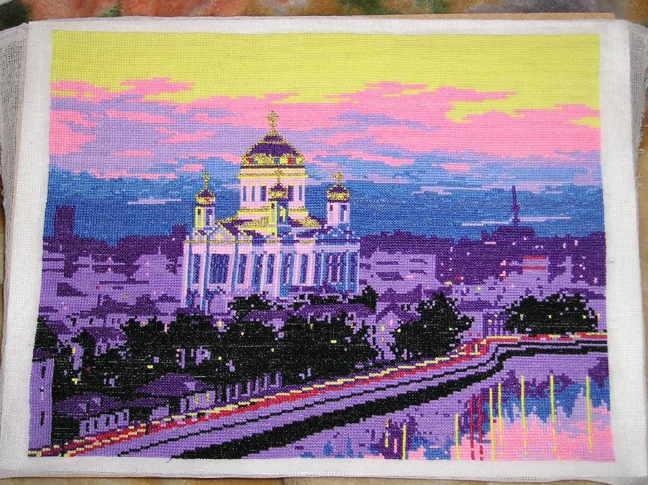 Вышивка риолис храм христа спасителя 19