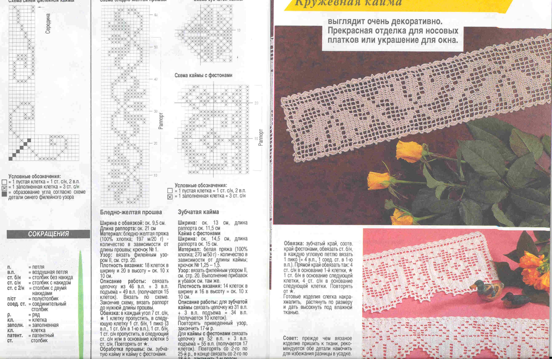 Вязание крючком прошва филейное вязание