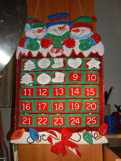 Новогодние календарь своими руками