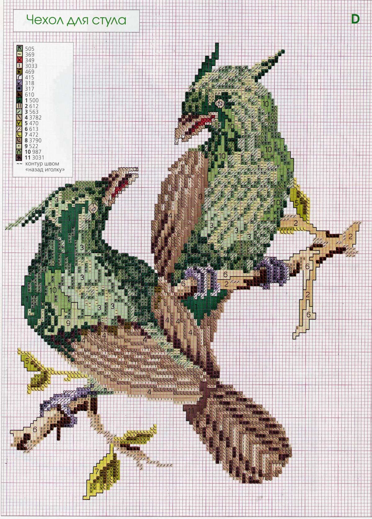 Райская птица вышивка 56