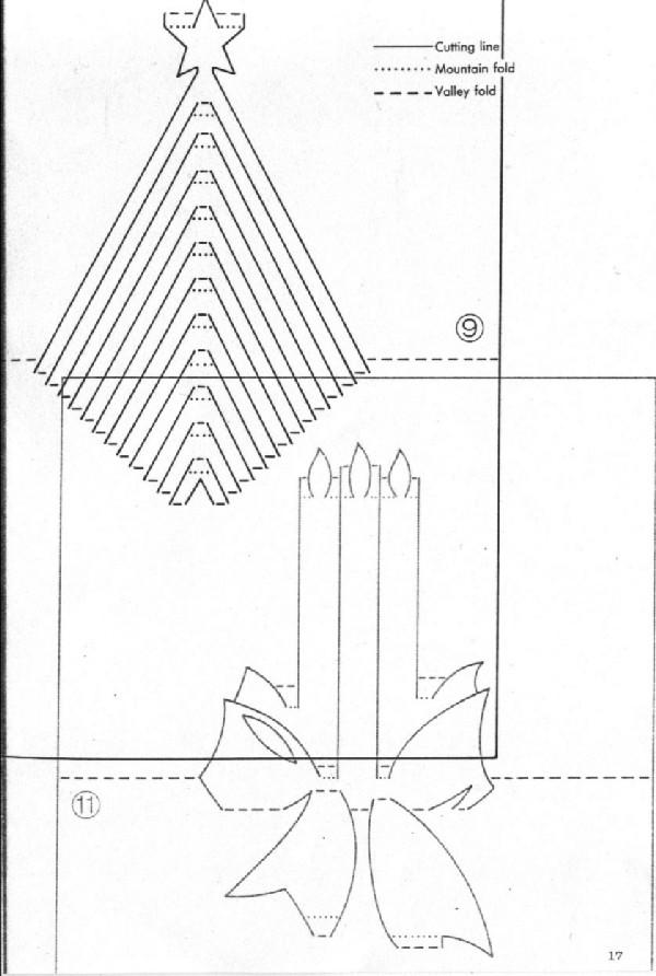 Шаблоны для киригами открыток 7