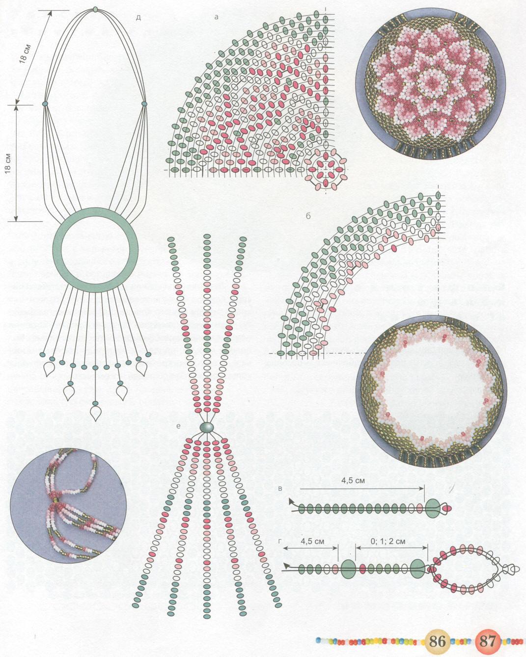 Бисероплетение салфетки из бисера схемы