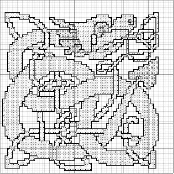 Дракон схема. Кельтские узоры