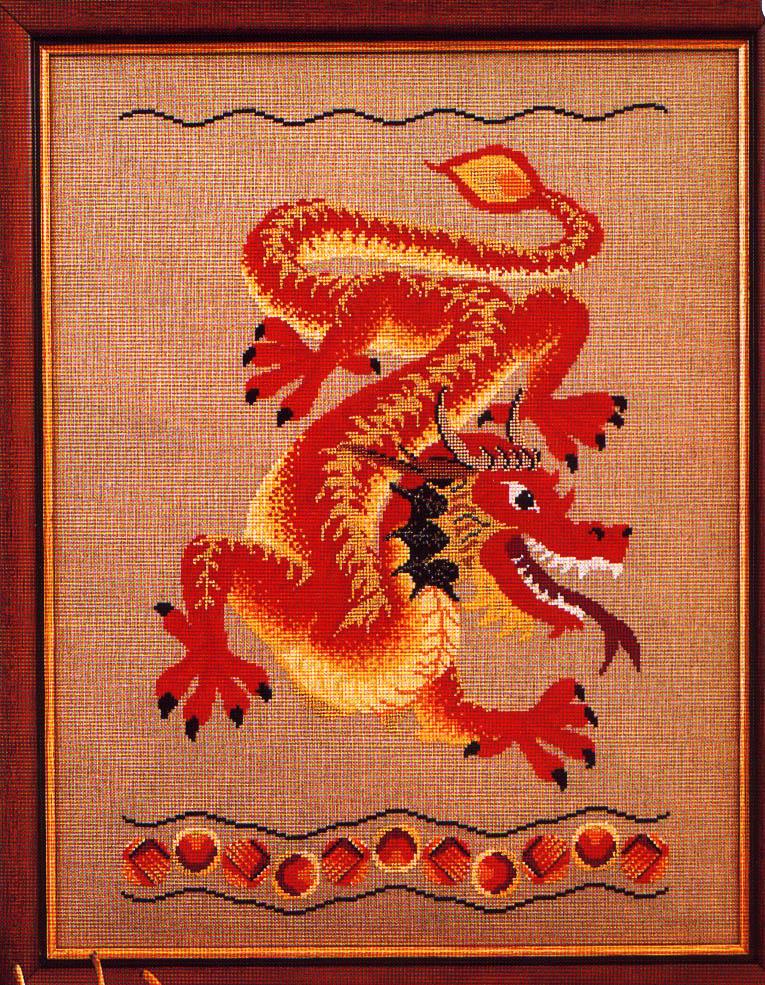 Вышивка дракон приметы 75