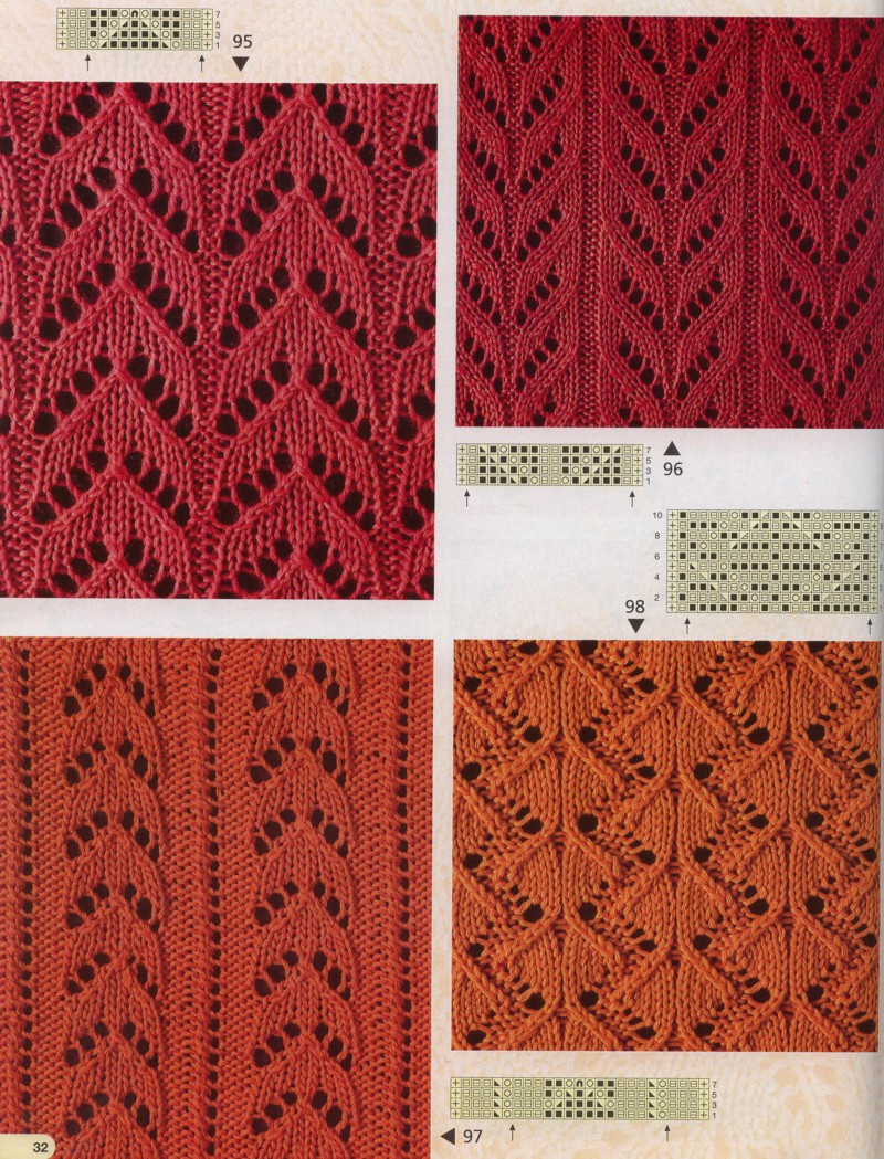 Узоры вязания спицами  prjagaru