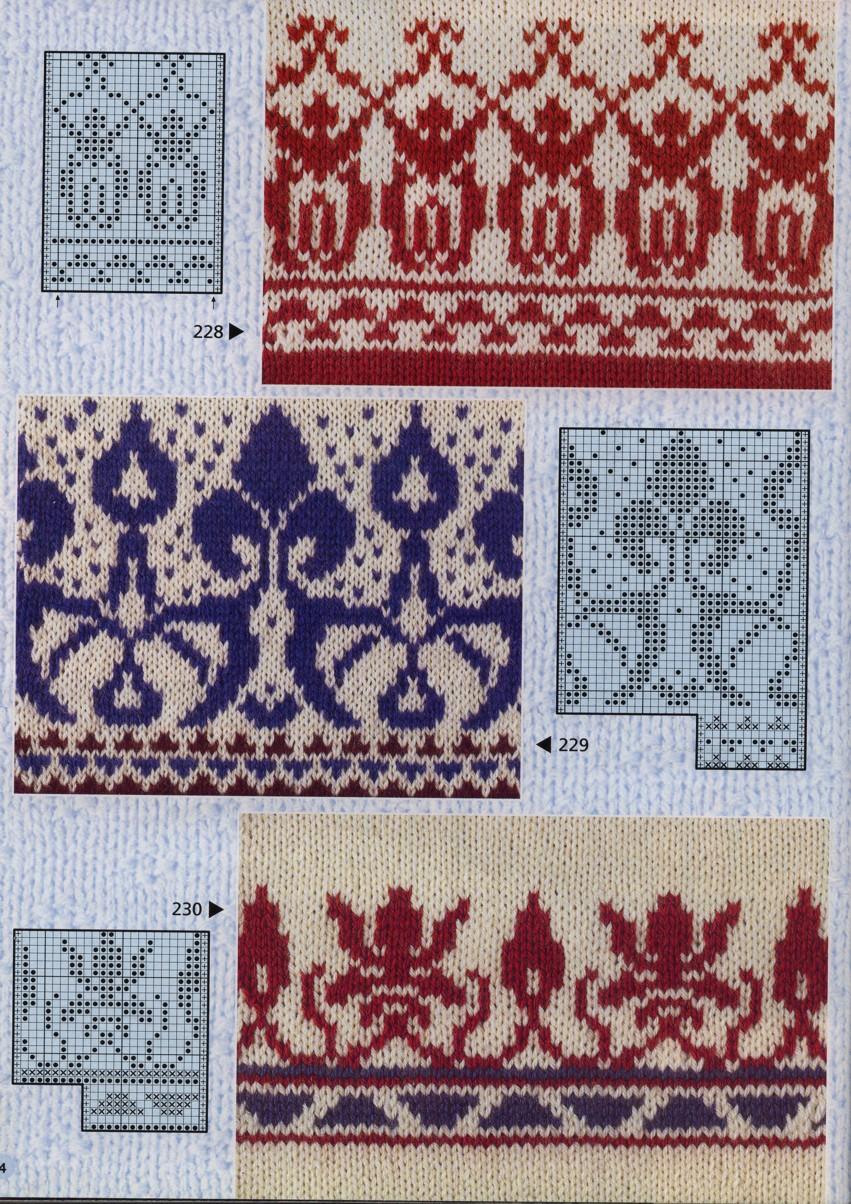 Жаккардовые узоры для вязания спицами детям