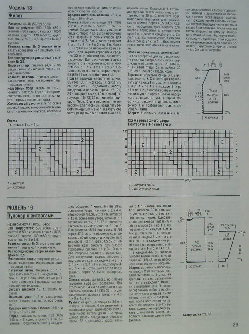 Схема патентной резинки зигзаг