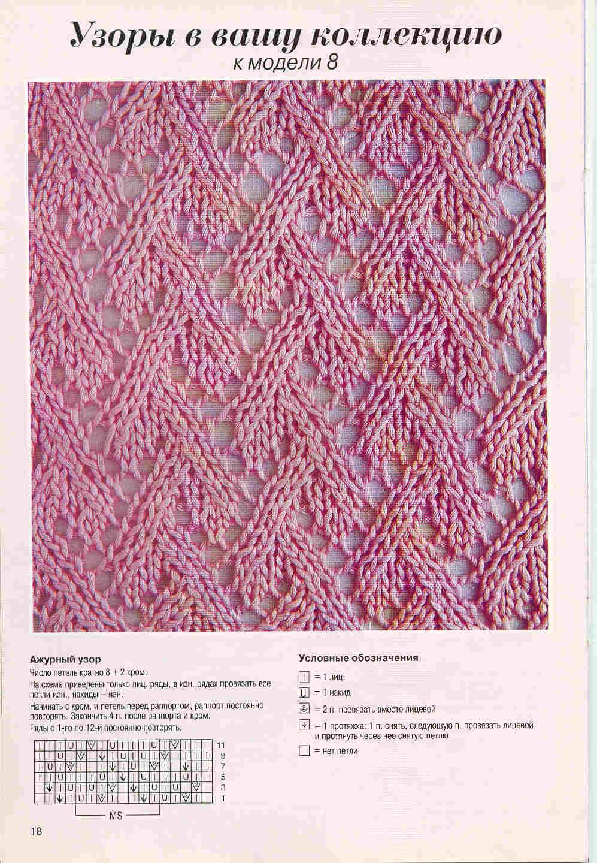 Узоры для вязания на спицах кофточки 570