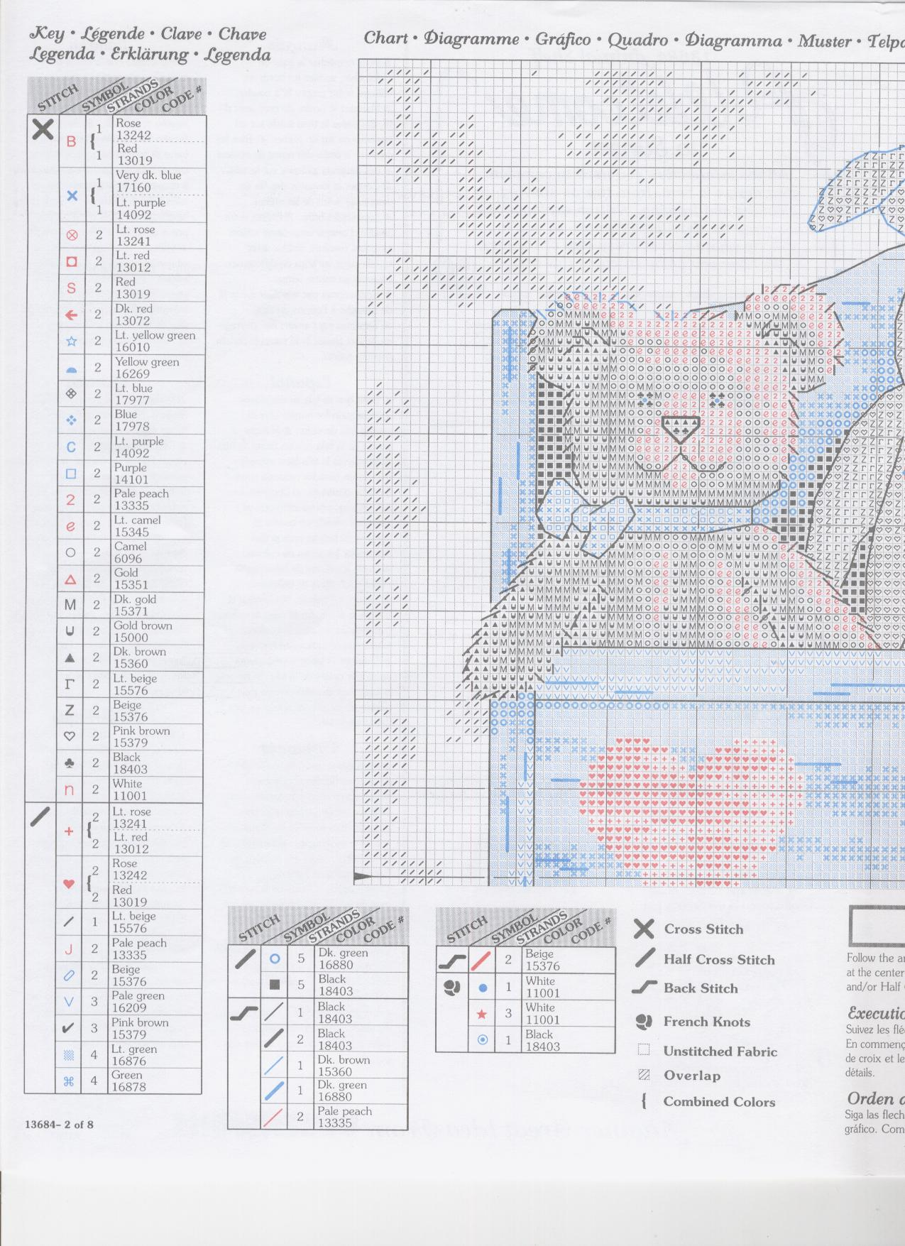 13684 animal shelf схема вышивки 95