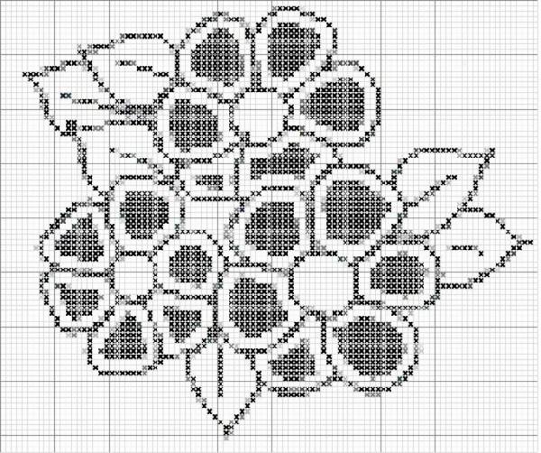 Цветы схемы филейное вязание