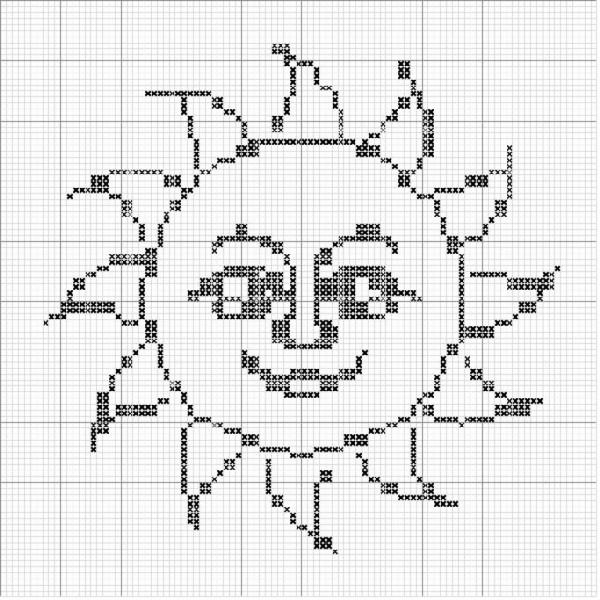 Солнышко схема для вязания крючком