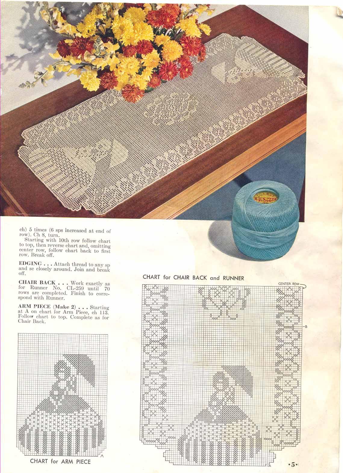 Обратное филейное вязание